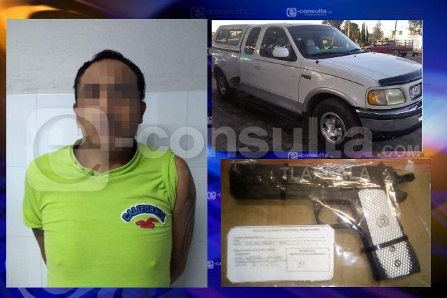 La SSC detiene en Texcalac a sujeto con réplica de arma de fuego