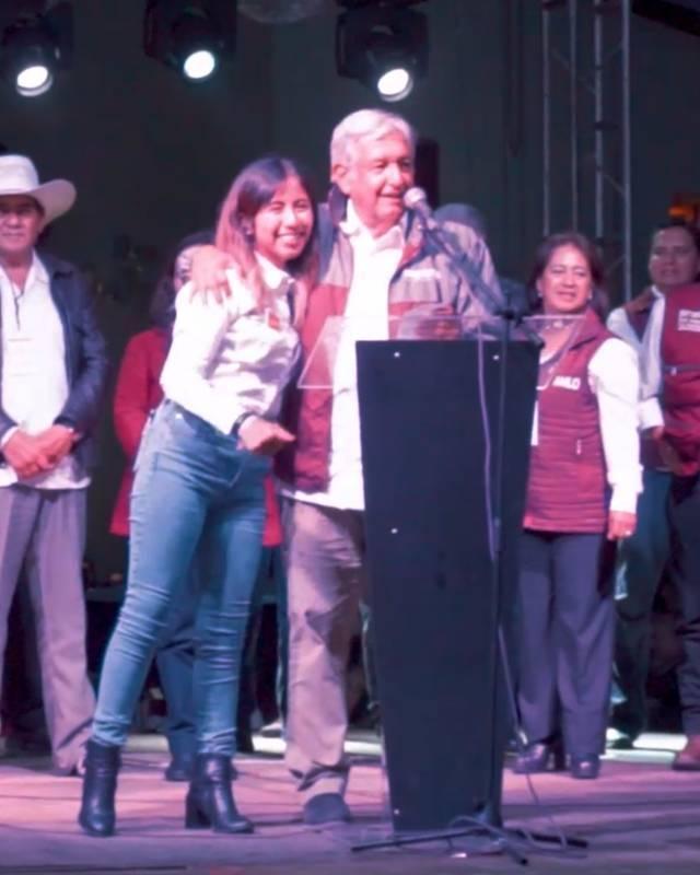 María Félix recibe el respaldo de López Obrador para que sea la próxima diputada