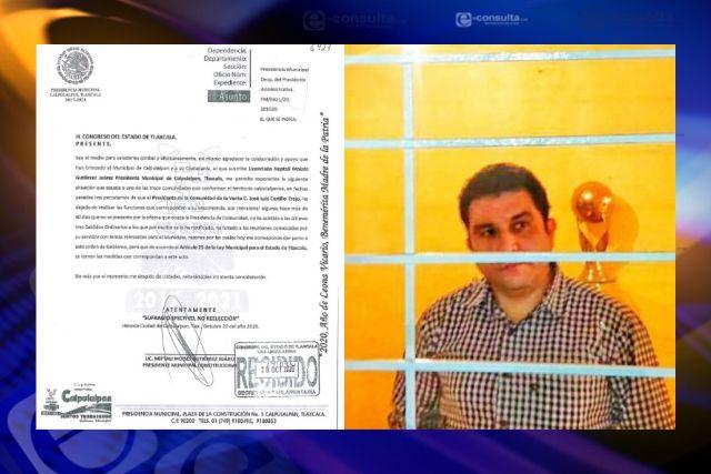 Autoridades irresponsables de Calpulalpan; La Venta se queda sin presidente