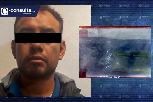 Aseguran a una persona por la posesión ilegal de narcótico en Contla