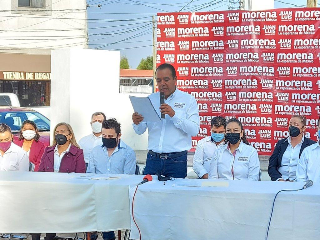 El tiempo llegó, Tetla será gobernado por Morena: Juan Luis Hernández