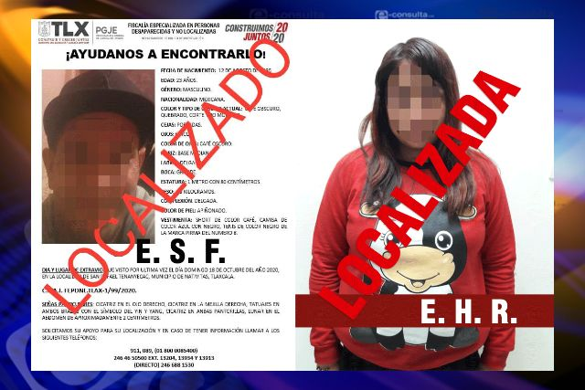 PGJE localiza a dos personas reportadas como extraviadas