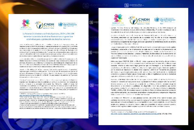 Lamenta la CNDH eliminación de fideicomisos sin respetar derechos humanos de las personas