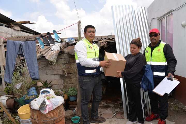 Entrega CEPC insumos a familias afectadas por lluvias