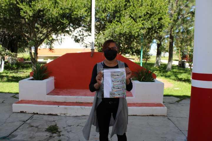 Donan cachitos de la rifa del avión presidencial a comités  de LEEN en Tlaxcala