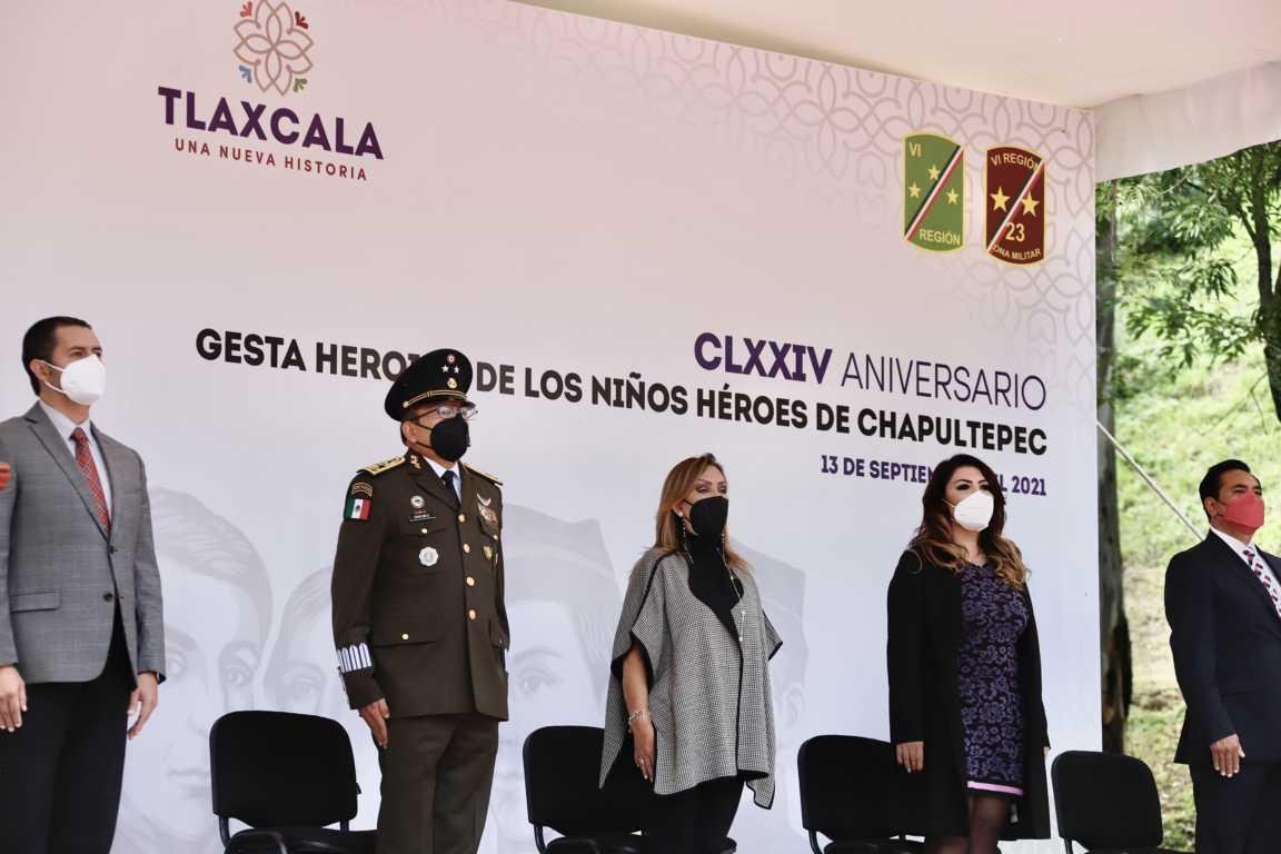 Lorena Cuéllar encabezó aniversario de gesta de los Niños Héroes De Chapultepec