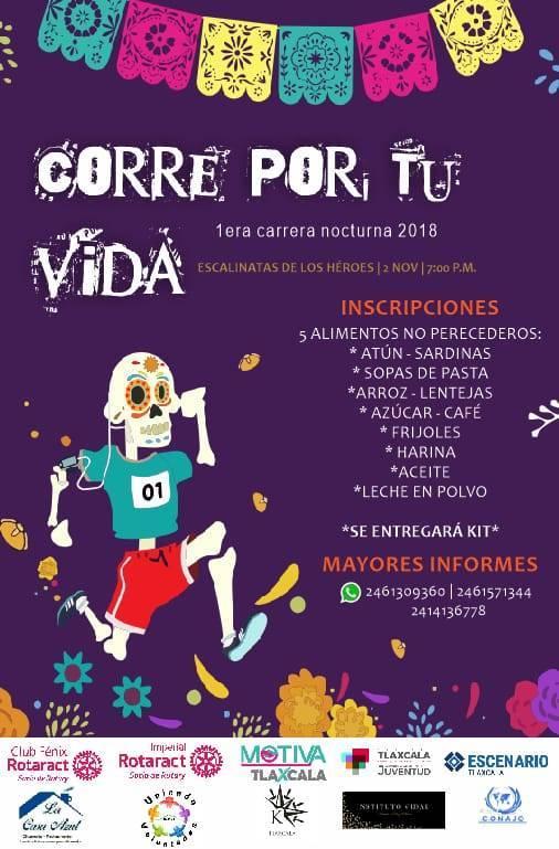"""Realizarán primera carrera deportiva """"Corre por tu Vida"""", el próximo 2 de Noviembre"""