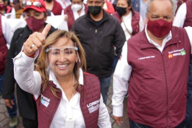 Lorena te queremos gobernadora: Pobladores de Xaloztoc