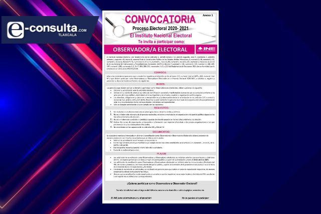 Observación electoral, fundamental para dar certeza y legalidad a una elección: INE Tlaxcala