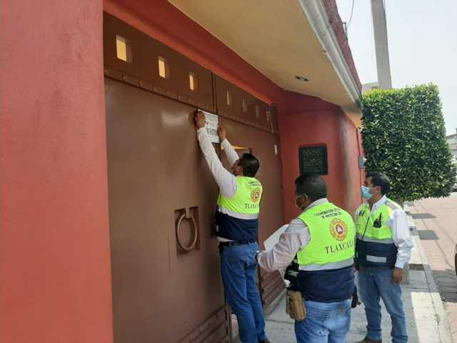 Clausura CEPC salón social en Panotla por no respetar medidas preventivas por Covid-19