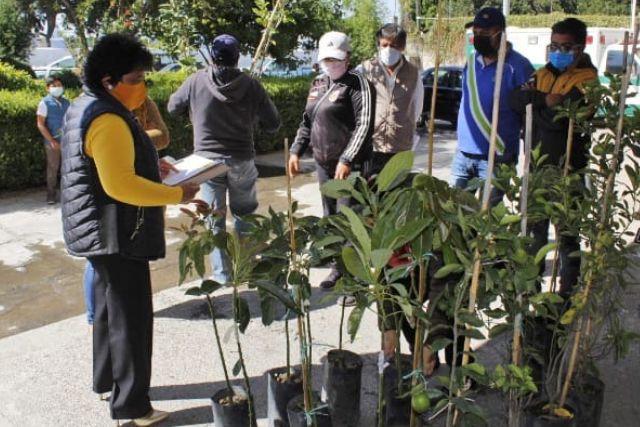 Edil de Xiloxoxtla contribuye al cuidado del ambiente con la entrega de arboles