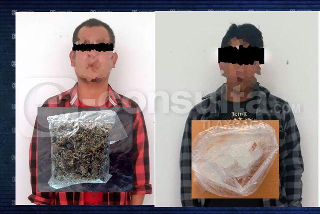 La SSC detiene a dos sujetos por posesión de droga en la entidad