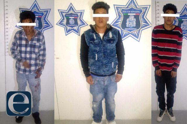 Tres detenidos por su probable participación en el homicidio de un masculino