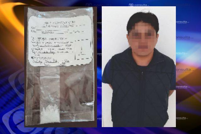 Policía estatal detiene en San Juan Totolac a una persona con droga