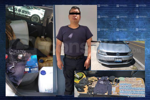 Se hacía pasar por policía municipal para robar hidrocarburo
