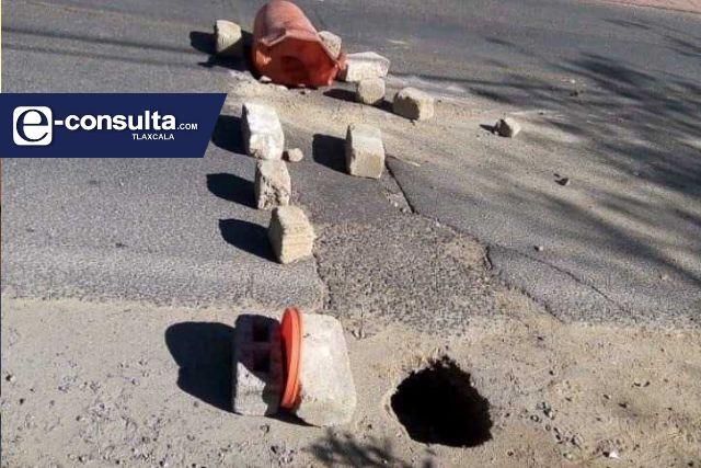 Bladimir Zainos ignora a los ciudadanos, no quiere reparar la Avenida Hidalgo