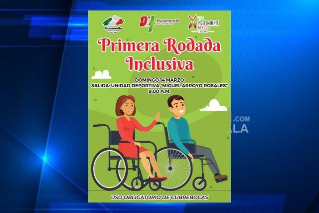 Organiza DIF Huamantla la primera rodada inclusiva para personas con discapacidad.
