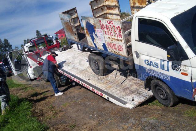 Recupera Policía de Apizaco camioneta de gas robada en Xaloztoc