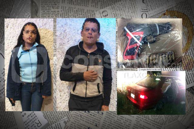 La SSC detiene en Apizaco a dos personas y asegura vehículo robado