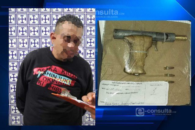 Asegura policía estatal a una persona por portación de un arma de fuego