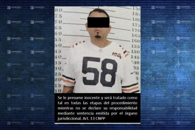 Detienen a Christian N. por portación de arma ilegal