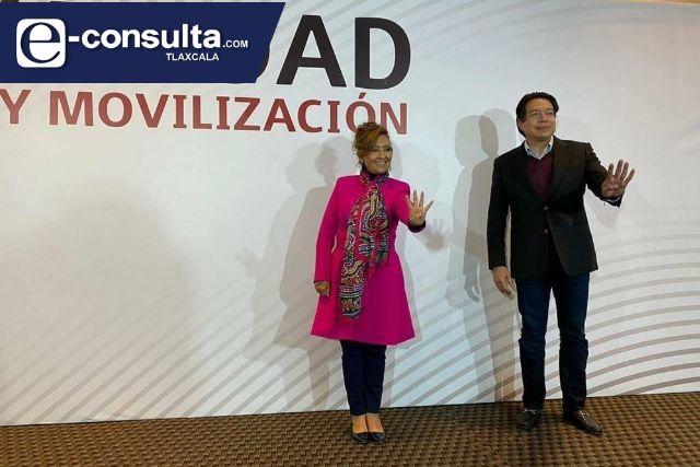 Mario Delgado y Morena refrendan el respaldo a Lorena Cuellar Cisneros