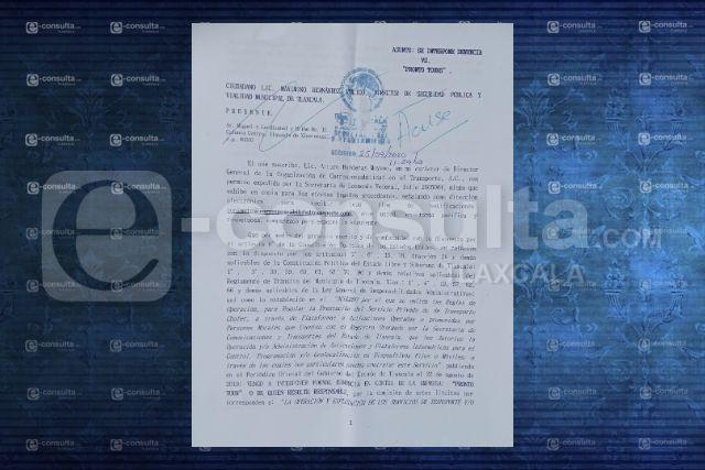 Denuncian ante SECTE y Dirección de Policía de Tlaxcala a Pronto Tours