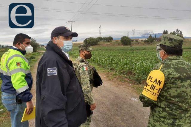 Atienden CEPC, PEMEX y Guardia Nacional fuga de gas LP en Nativitas