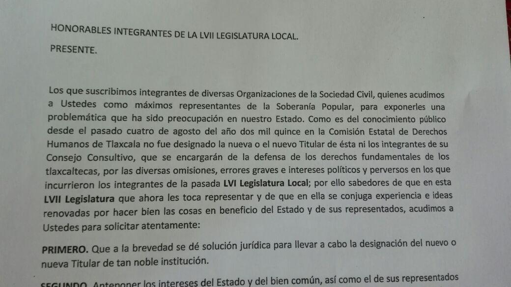 Exige sociedad civil dar solución a la designación del próximo ombudsman