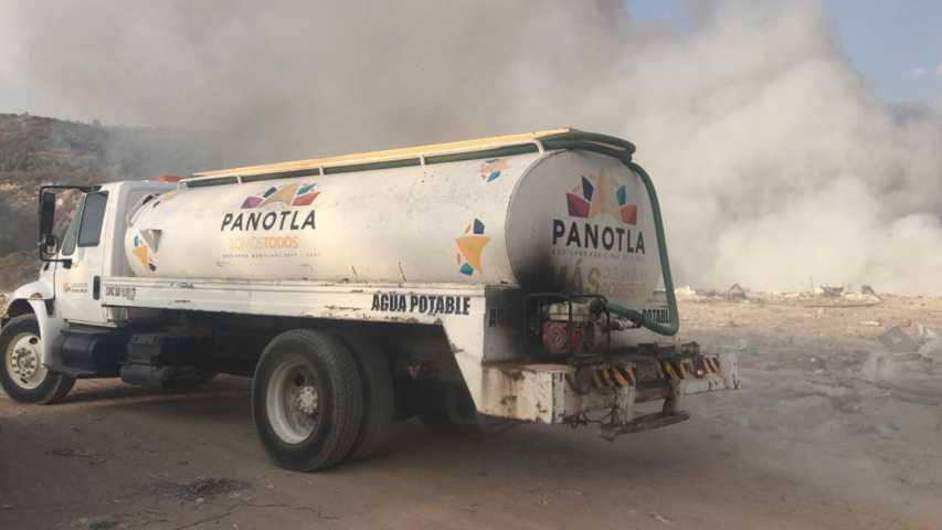Controlan incendio en el relleno sanitario de Panotla