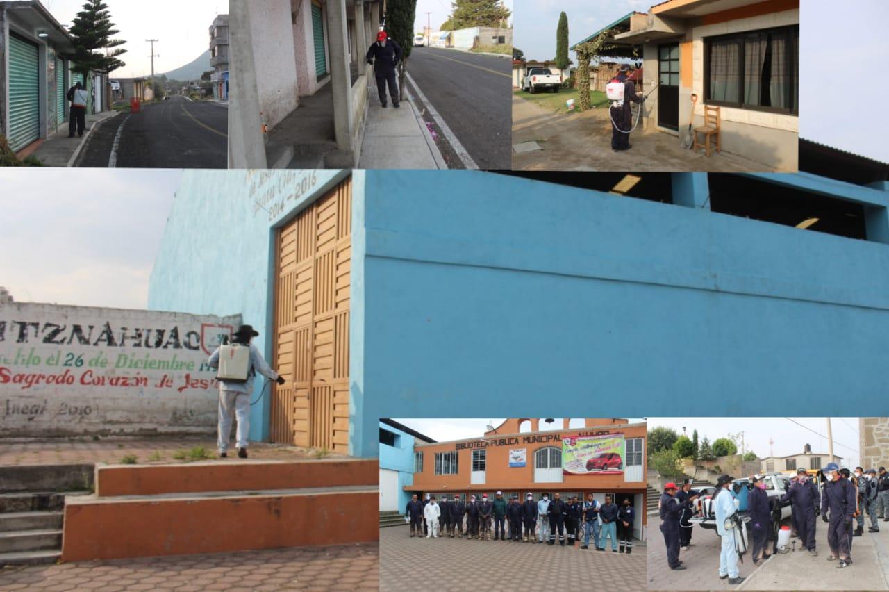 Sanitización en Guadalupe Tlachco y Jesús Huitznahuac