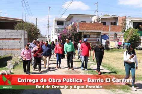 Se entregan 3 obras de drenaje y agua potable en el Carmen