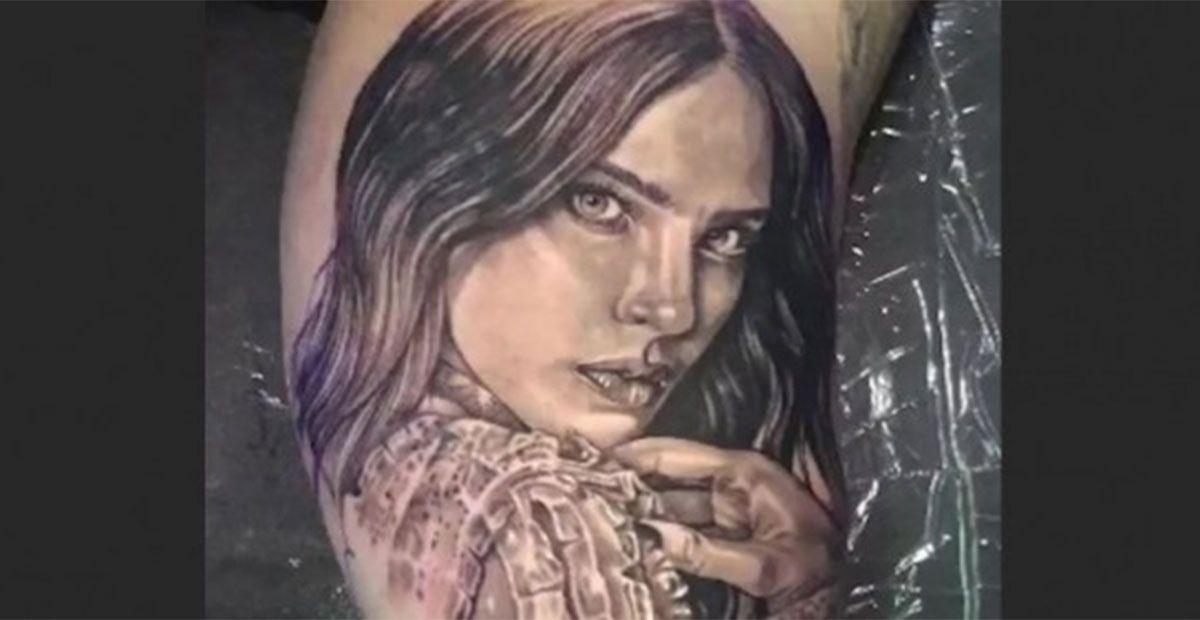 Publican fotografía del tatuaje de Lupillo Rivera con cara de Belinda