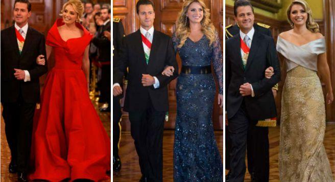 Estos fueron los costosos vestidos que uso Angélica Rivera en el 15 de Septiembre