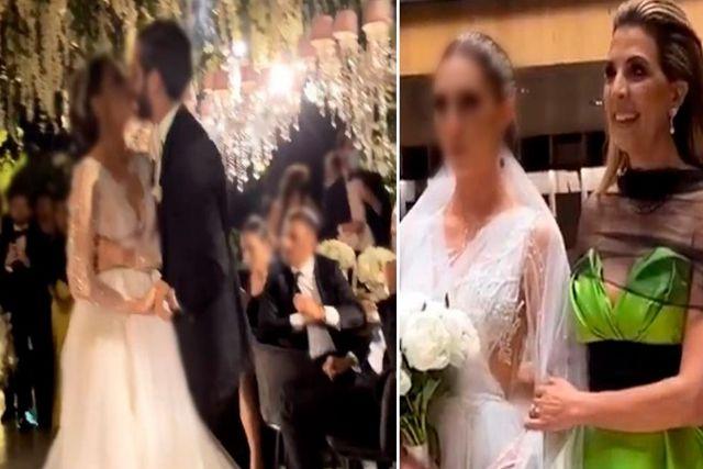 Hija de funcionaria pide a sus invitados no difundir fotos de su boda con más de 300 invitados