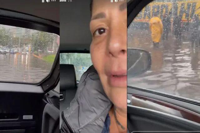 Policía rescata a Alejandra Guzmán mientras queda varada en una inundación