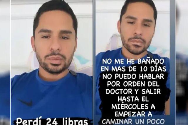 Reaparece Larry Hernández tras contagio de Covid con 10 kilos menos y sin poder hablar