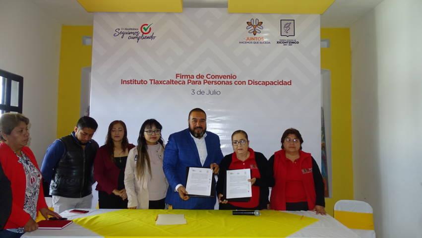 Firma Xicohtzinco convenio de colaboración con ITPCD