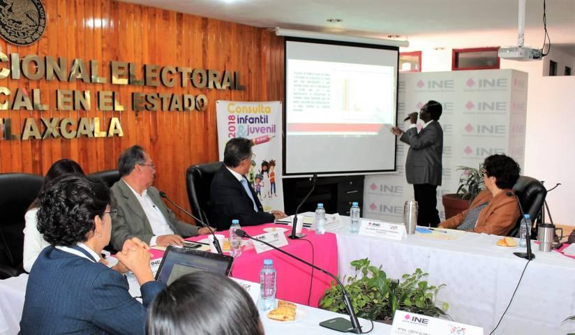 Cierra INE Tlaxcala análisis de resultados de la Consulta Infantil y Juvenil 2018