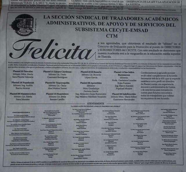 Impone González Zarur a director del CECyT 23; viola la ley de Servicio Profesional Docente
