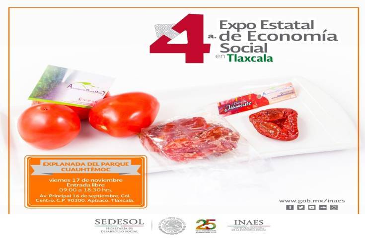 INAES Tlaxcala presente en la 4ª Feria Estatal de Economía Social