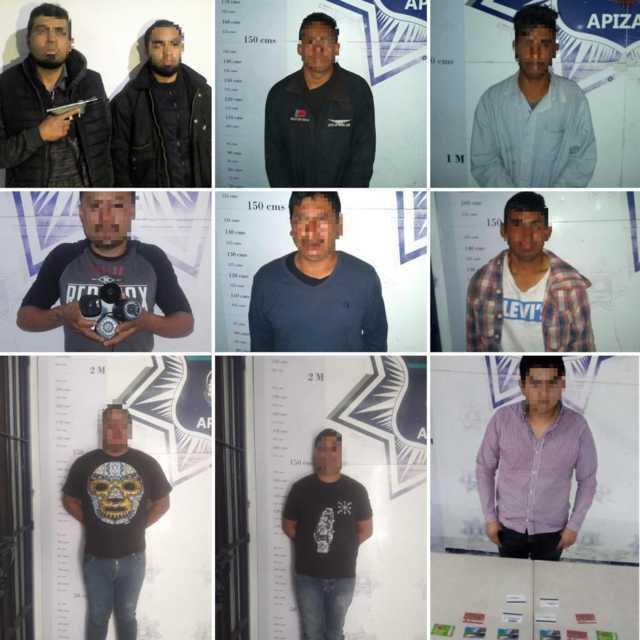 Policía de Apizaco detuvo a 18 personas durante enero
