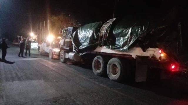 Dan nuevo golpe al 'huachicol', aseguran camión tipo cisterna en Nativitas