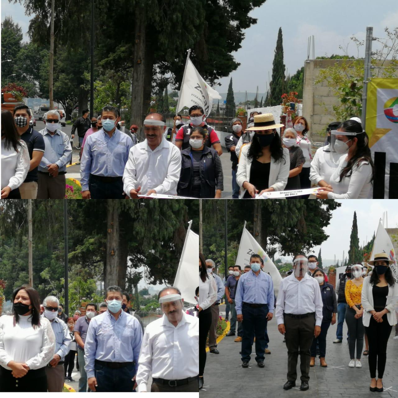 Tomás Orea e Irma Garay ponen en marcha andador peatonal en Zacatelco
