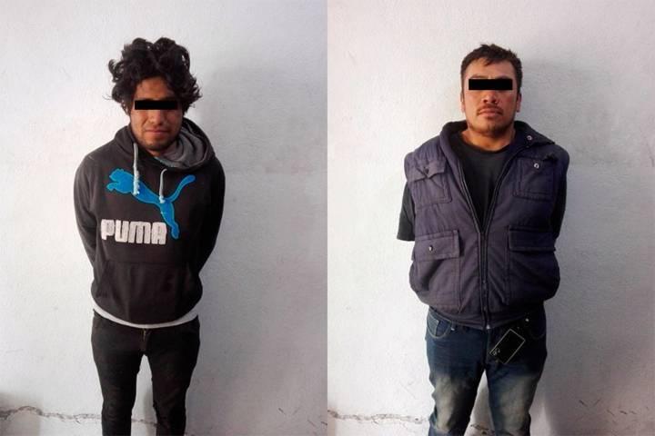 Asegura Policía de Apizaco a dos hombres por robo al tren