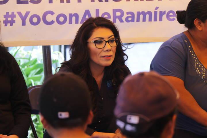 Ofrece Alejandra Ramírez establecer como asunto prioritario la seguridad del II Distrito
