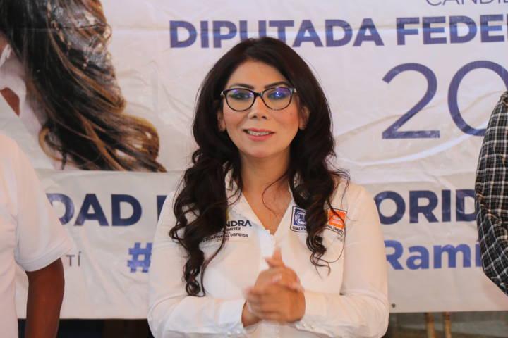 Seré la voz de los tlaxcaltecas en el Congres, asegura Alejandra Ramírez en La Magdalena Tlaltelulco