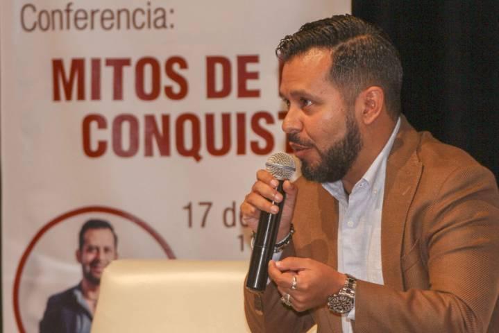 Realiza comisión de los 500 años conferencia Mitos De La Conquista
