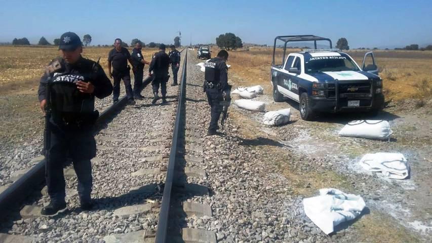 Recupera CES mercancía robada del tren en Apizaco