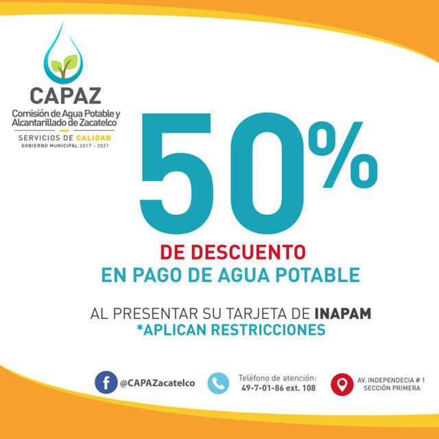 CAPAZ incentiva a la población a realizar su pago puntual de agua y evitar multas
